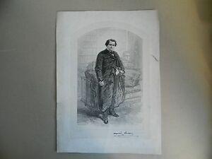 Gravur-Napoleon-Jerome-Bonaparte-Portraet-Lithografie-Von-Gavarni-XIX