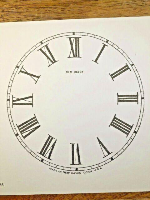 "Lot 190 Arabic Numeral 5/"" Ingraham Clock Paper Dial"