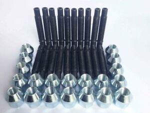 20 X M12 X 1.5 90mm Kit De Conversión Para Bmw Perno + Tuercas (plata)