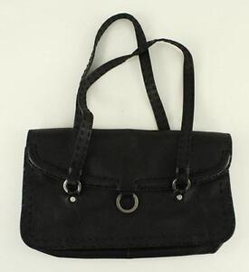 Image Is Loading Modern Designer Purse Adrienne Vittadini Black Leather Sch