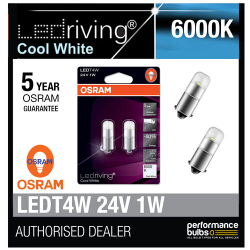 249 12V ampoules à led 1W long life 3924CW-02B Osram 24V led 6000K blanc froid T4W
