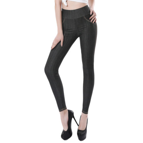 Women High Waist Jeans Pants Punk Leggings Denim Trousers Plus Size Leggings