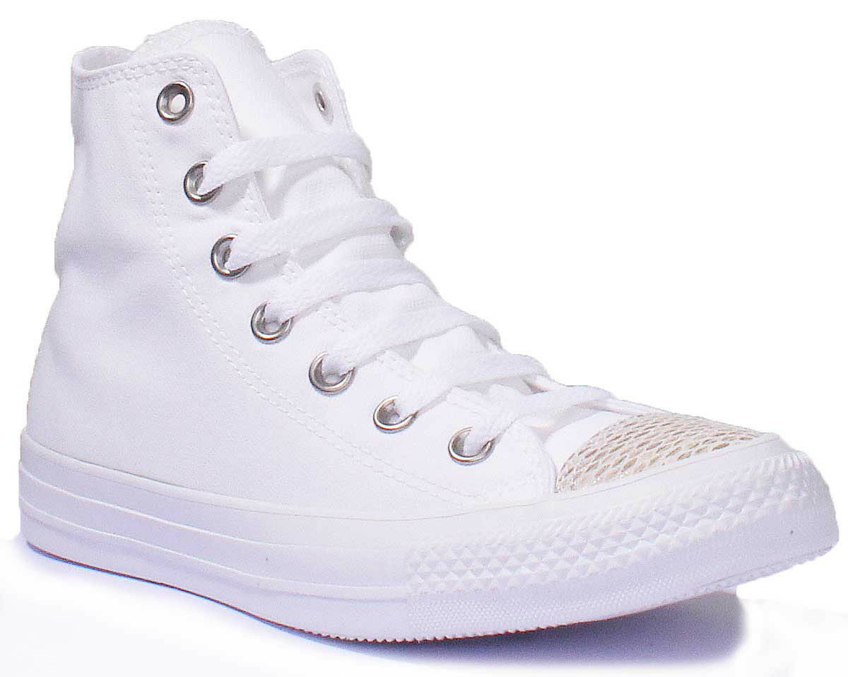 Converse Chuck White Taylor All Star White Chuck High Top Womens Canvas Trainer Size 3 - 8 cf79ab