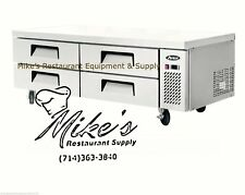 New 72 Chef Base Refrigerated Stainless Steel Cooler Nsf Atosa Mgf8453gr 4710