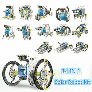 Creative-DIY-Assemble-14-In-1-Educational-Solar-Power-Transformers-Robot-Kit-Toy