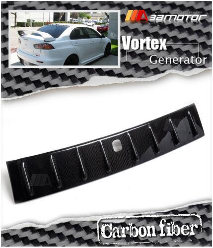 Shark Fin Carbon Vortex Roof Generator w// Antenna 5x6cm for Mitsubishi EVO 10 X