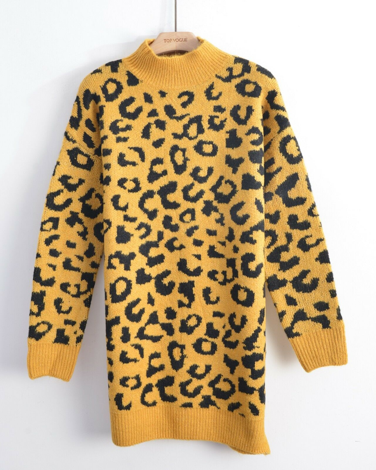 CY BOUTIQUE Trendy leopard animal wild print super soft fluffy long Jumper