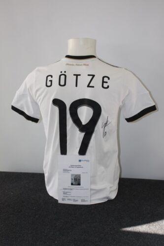 164 BVB Mario Götze signiert Deutschland Trikot Borussia Dortmund DFB
