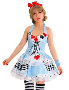 damen erwachsene alice im wunderland damenkost m sexy kost m disney outfit ebay. Black Bedroom Furniture Sets. Home Design Ideas