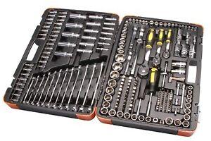 Steckschluesselsatz-216-tlg-1-4-034-1-2-034-3-8-034-Knarrenkasten-Werkzeug-Knarre-Ratschen