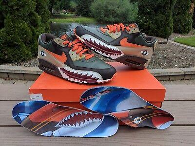 ceaf130b34e Details about Nike Air Max 90 Premium Warhawk Armed Forces Patta Atmos Bape  315728-381