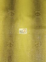 Florida Gator 3d Embossed Vinyl Fabric - Ultra Gold - By Yard Upholstery 2 Tone