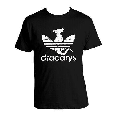 Black Dracarys T-shirt A-didas Parody Khaleesi T-shirt 100% Cotton Unisex Got Warmes Lob Von Kunden Zu Gewinnen