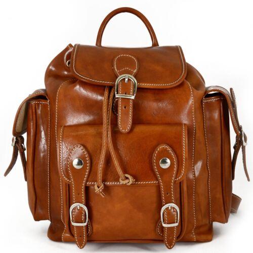 Herren 2 Rucksack Seitentaschen Leder Ken Echtes PxHq1P