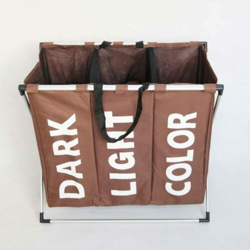 Laundry Basket Collapsible Clothes Bathroom Hamper Organizer Home Storage Basket