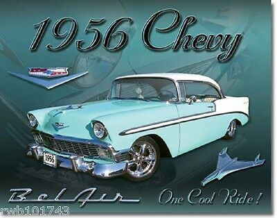 1956 Chevy Bel Air TIN SIGN chevrolet antique diner wall decor metal poster 1607
