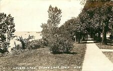 1930s Real Photo PC; Lovers Lane, Storm Lake IA 474 Buena Vista County Posted