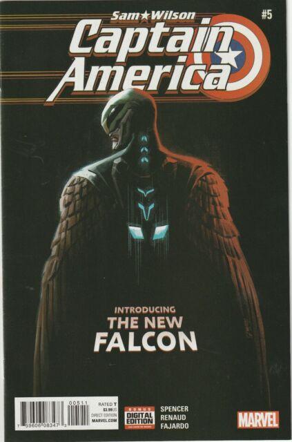 Sam Wilson Captain America # 5 Cover A NM+ Marvel 1st Cover App Joaquin Torres
