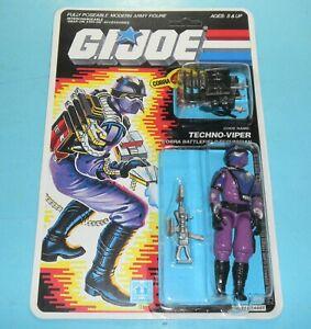 RECARDED-1987-GI-Joe-Techno-Viper-Figure-Complete-Sealed-CUSTOM-File-Card-Back