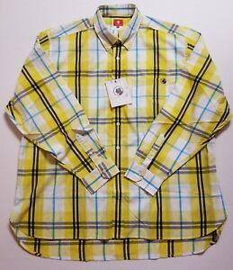 Men-039-s-Southern-Proper-Button-Down-Shirt-Yellow-Plaid-Long-Sleeve-L-XL-NWT-FAST
