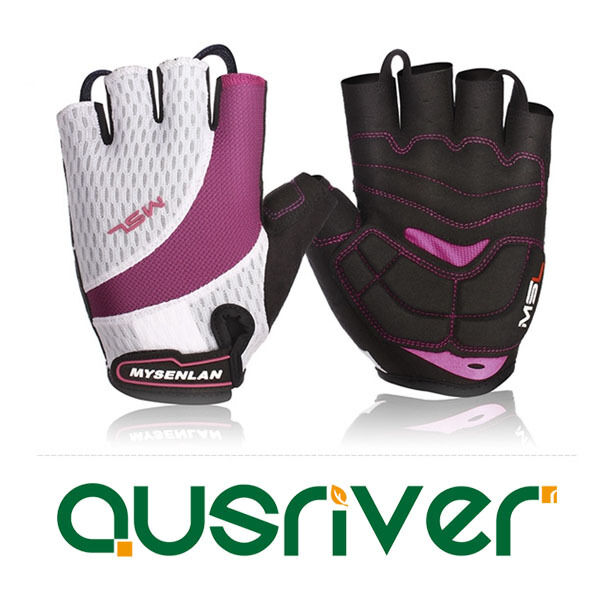 Premium New Women Lady Cycling  Bicyle Half-Finger G s Mitt Racing Motorcycle  on sale 70% off
