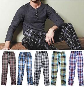 Mens-Lounge-Pants-Pyjamas-Nightwear-Loungewear-Trouser-Bottoms-S-M-L-XL