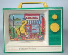 KA Vintage Fisher Price Sesame Street 114 Wind Up TV People In Your Neighborhood