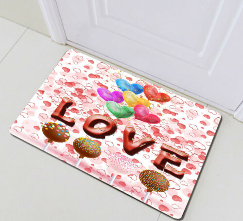 Colorful Balloons Valentine Candy Fabric Shower Curtain Set Bathroom Decor Hooks