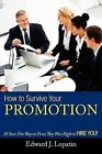 How to Survive Your Promotion: 85 Sure-Fire Ways to Prove They Were Right to Hire You! by Edward Lopatin (Paperback / softback, 2012)