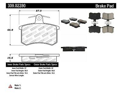 Rear Set Stoptech 309.06570 High Performance Sport Brake Pads