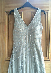 New-Look-Nude-Beige-Diamante-Cocktail-Long-Tall-Maxi-Dress-6-12-Bnwot-Rrp-100