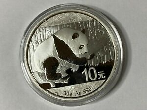 2016-Silver-Chinese-Panda-30g-999-Silver-Bullion-Coin-China-10-Yuan