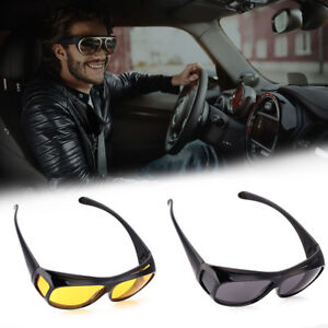 4beeb55f9e Image is loading HD-Vision-Sunglasses-Night-Vision-Glasses-For-Driver-