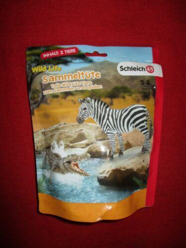 cocodrilo//zebra nuevo embalaje original Schleich ® Wild Life sammeltüte set 5 2 animales