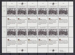 UNO-Wien-1989-postfrisch-MiNr-96-97-Bogensatz-Menschenrechte
