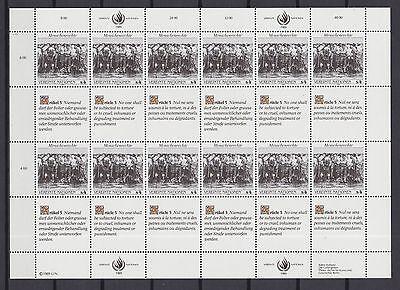 Uno Wien 1989 Postfrisch Minr. 96-97 Bogensatz Menschenrechte Dingen Gemakkelijk Maken Voor Klanten