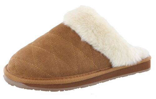 CLARKS WOMEN GINGER QUILTED OPEN BACK SLIPPERS