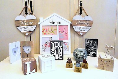 Shabby Chic Home Accessories Decor Heart Wall Art Photo Frame Love Ornament