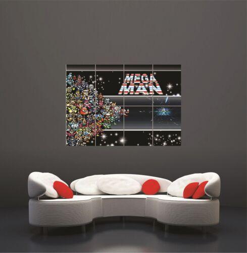 Mega Man Giant Art Print Wall Poster Picture