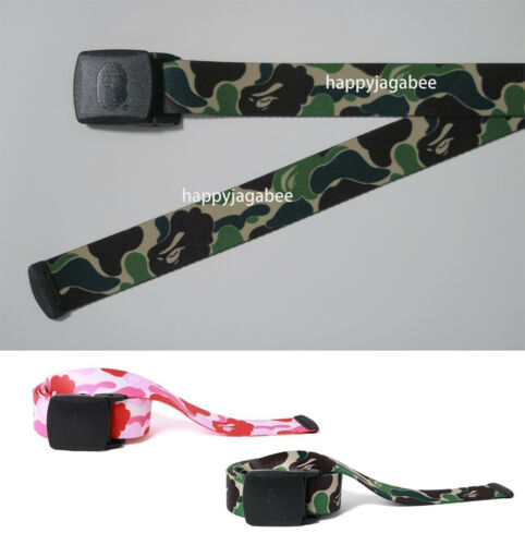 A BATHING APE Goods Men/'s ABC CAMO LONG GI BELT 2colors From Japan New