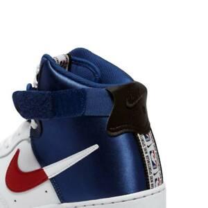 Men-039-s-Nike-Air-Force-1-High-039-07-LV8-Clippers-White-Blue-Basketball-BQ4591-102-14