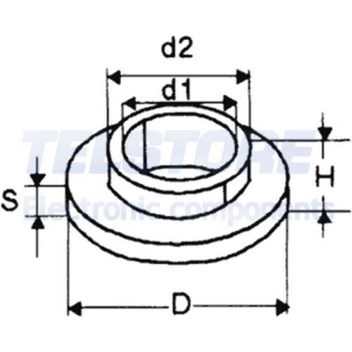 10pcs  Boccola isolante TO220 6,1mm max.130°C TELSTORE