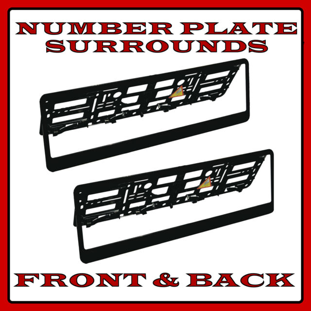2x Number Plate Surrounds Holder Black ABS for Mercedes M-Class ML W164