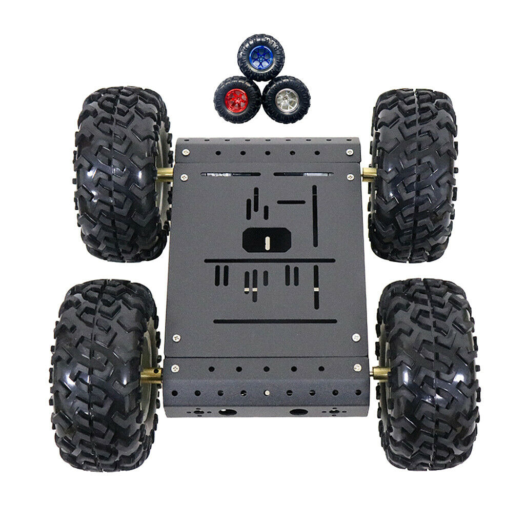 Smart Robot Car Tank Chassis Kit Aluminum Alloy Big Platform 4-wheel Drive