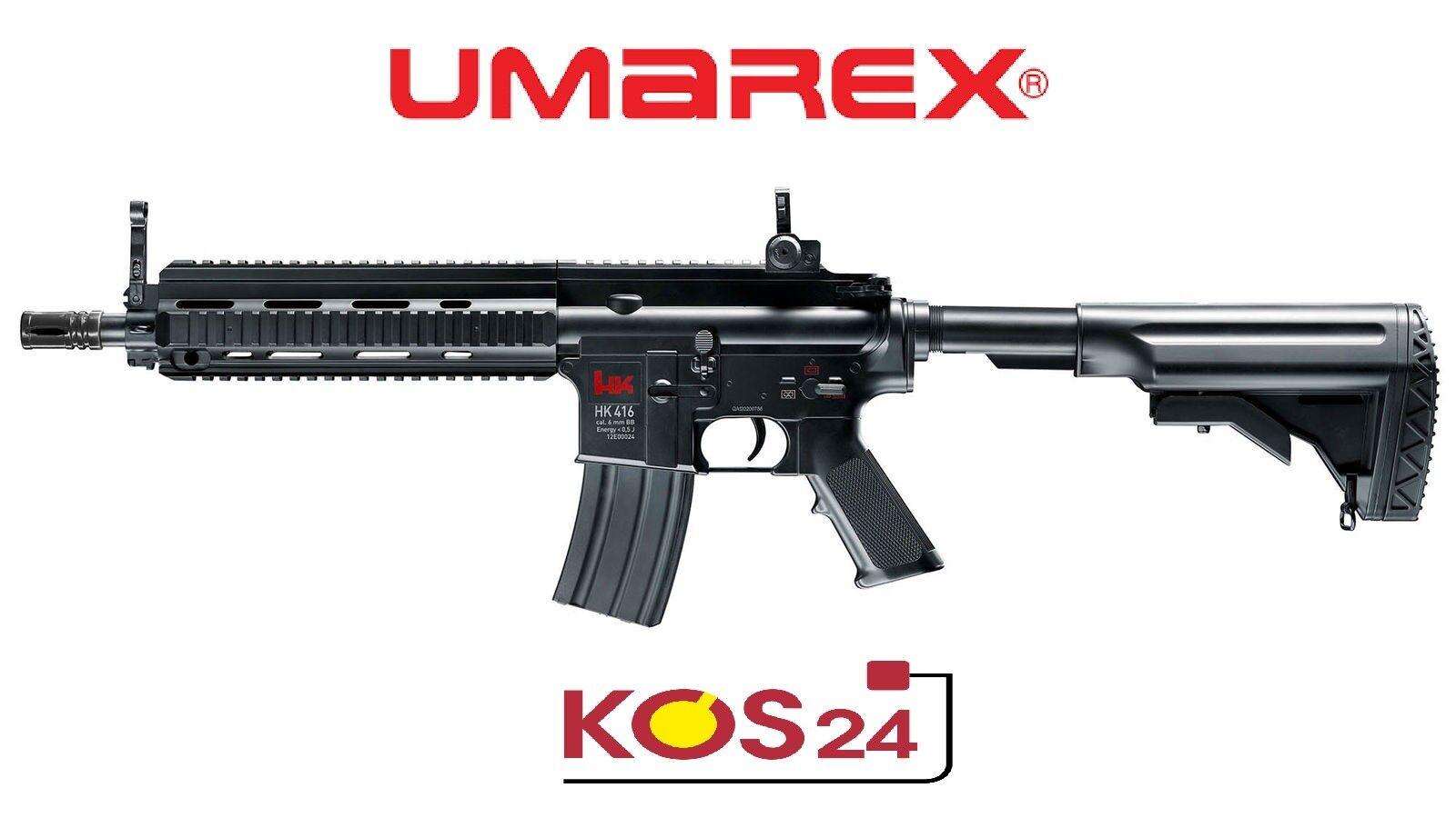 Elektrische Softair Schnellfeuerkarabiner - Gewehr Schnellfeuerkarabiner Softair HK 416C mit Akkus <0,5Joule 484dc3