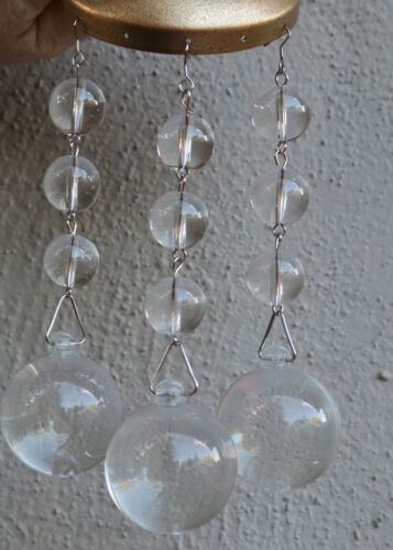 LOTof3 strands with Clear glass prism Lamp chandelier sconce part sun catcher