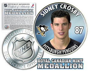 2005-06-SIDNEY-CROSBY-Royal-Canadian-Mint-Medallion-NHL-FIRST-EVER-Rookie-Coin