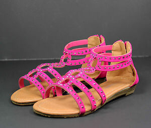 JELLY-64K Toddlers Youth Wedding Party Sandals Girls/' Dress Shoes Fuchsia 13