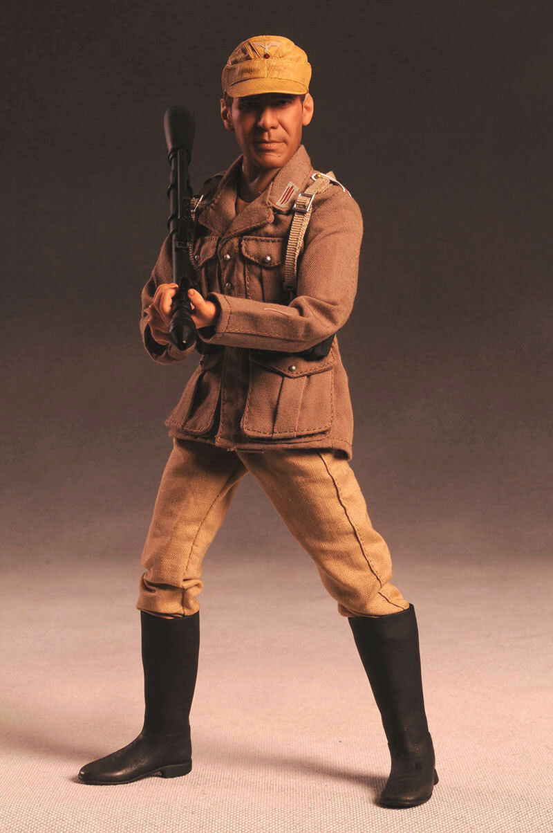 1 6 12 inch Sideshow Indiana Jones in German Disguise Harrison Ford Figure