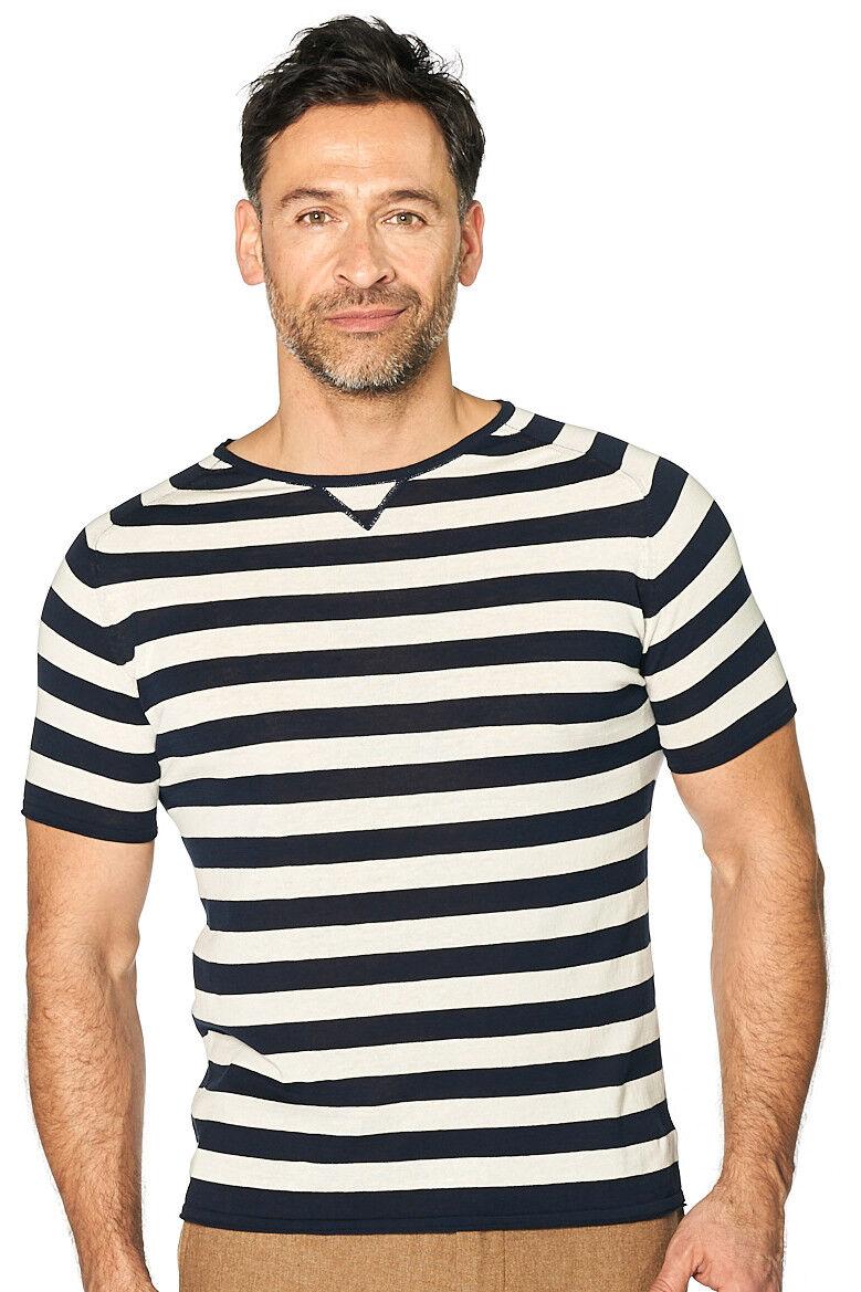 Manuel maritimes Ritz-shirt homme maritimes Manuel Shirt bleu-blanc rayé NOUVEAU: 306c68